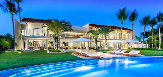 Unique stunning modern waterfront mansion at Casa de Campo Dominican Republic Real Estate Properties - Luxury Caribbean Villas and Beachfront Properties