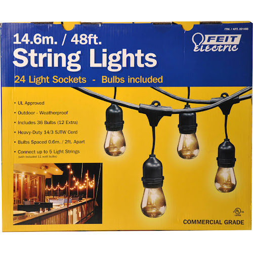Feit Outdoor Weatherproof String Light Set Led Lighting