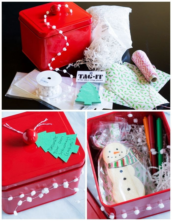 Snowman Cookie Kit : Three homemade gifts with pretty packaging from The Container Store