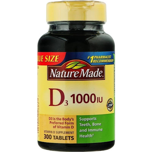 Nature Made Vitamin D3, 1000 IU, Tablets - 300 count