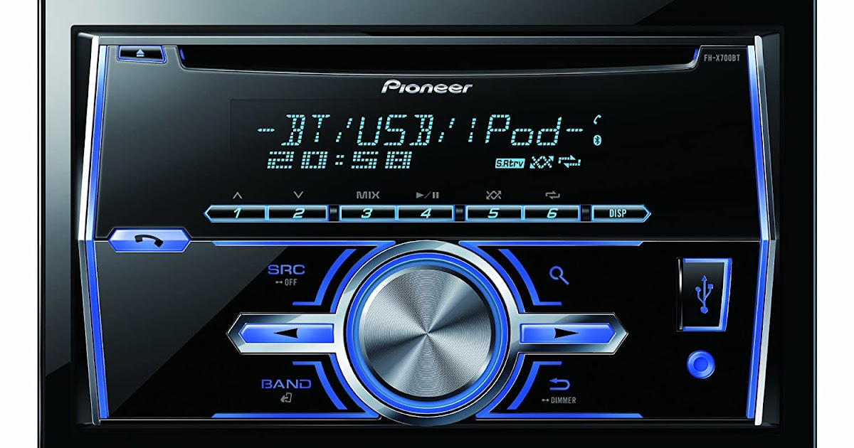 autoradio 2 din pioneer fh x700bt autoradio dual din mixtrax. Black Bedroom Furniture Sets. Home Design Ideas