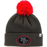 """San Francisco 49ers 47 Brand NFL """"Justus"""" Cuffed Knit Hat - Charcoal - OS"""