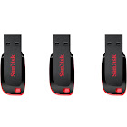 SanDisk 32GB Cruzer Blade USB 2.0 Flash Drive (SDCZ50-032G) Pack of 3