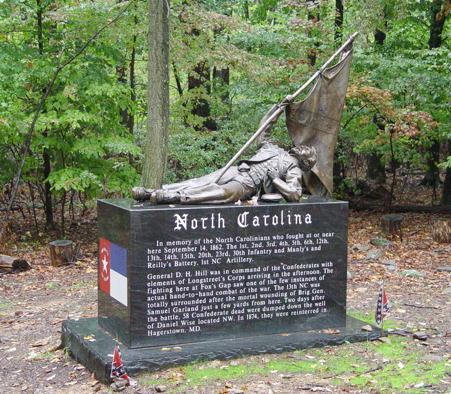 The North Carolina monument at Crampton's Gap on the South Mountain battlefield