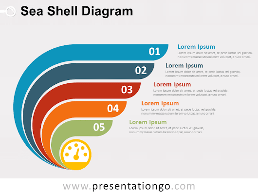 Sea Shell Diagram for PowerPoint - PresentationGO.com