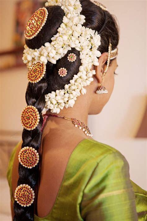 South Indian Bridal Wedding Hair #SouthIndianbride #