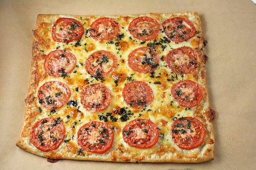 Three Cheese and Tomato Tart