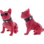 Aduro Mad Dog Wireless Bluetooth Speaker Red
