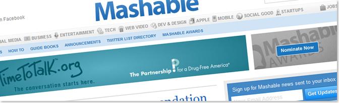 Mashable1 أمثلة عن مدونات تكسب آلاف الدولارات سنوياً من الانترنت