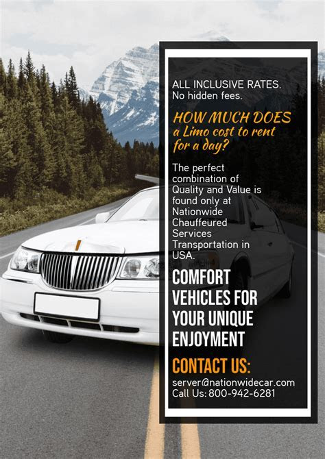 How Much Does A Limo Cost To Rent For A Day   (800) 942 6281