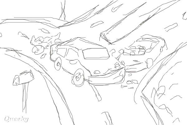 Traffic Accident Coloring Pages