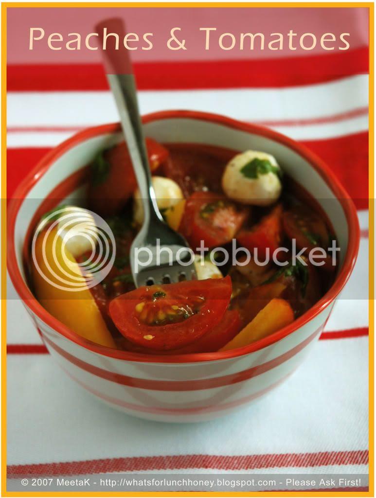 Tomato Peach Salad (04) by MeetaK