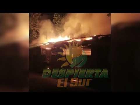 CUATRO VIVIENDAS CONSUMIDAS POR FUERTE INCENDIO EN SAN JUAN DE LA MAGUANA