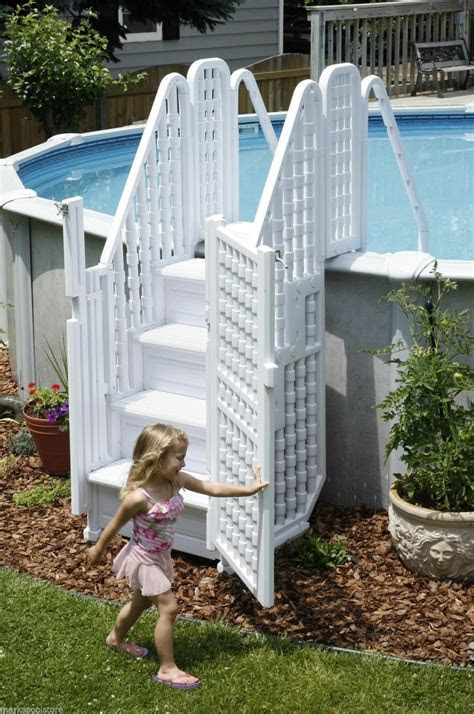 Decorating: How To Create Above Ground Pool Ladders For