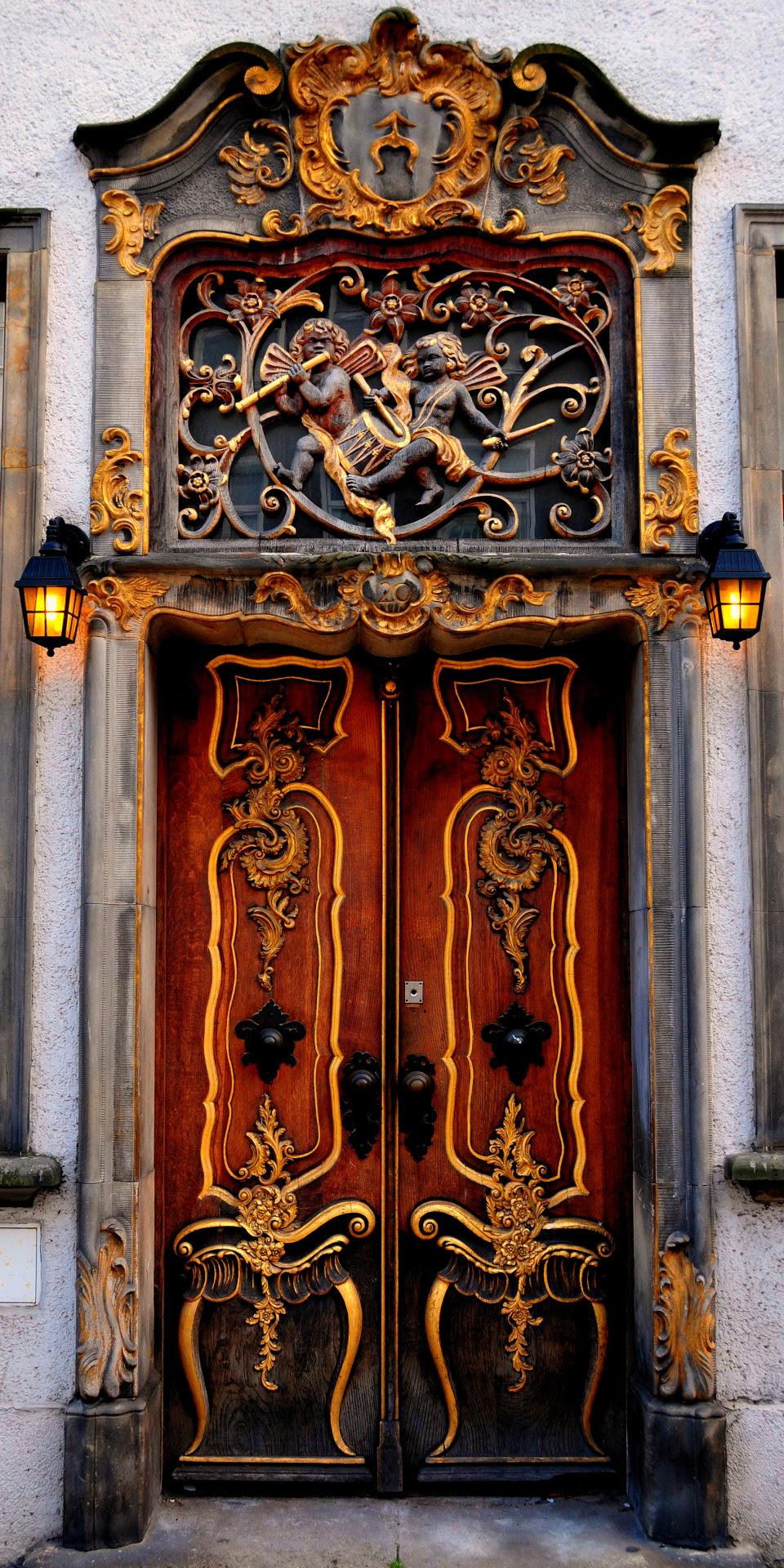 """gyclli: """" An interesting door in Gdansk  by Roman Art """""""
