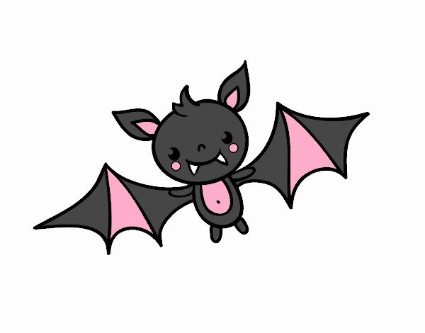 Dibujo De Un Murciélago De Halloween Pintado Por Danna03 En Dibujos