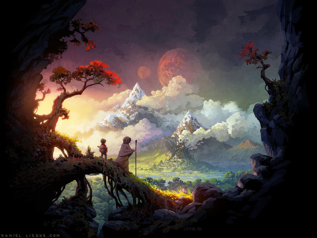 Fantasy Digital Paintings Welcome to the Wormworld by daniellieske