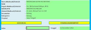 Aplikasi Raport Kurikulum 2013 Untuk Madrasah Aliyah VERSI Terbaru