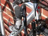 Closeup of the right aero brake lever