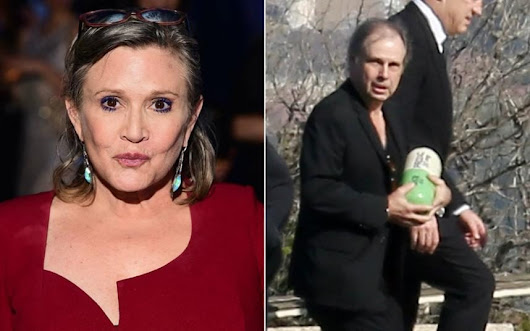 Carrie Fisher's ashes carried in giant Prozac pill urn as she is buried with Debbie Reynolds