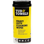 Tub O Towels Cleaning Wipes, Heavy Duty - 40 wipes