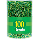 Amscan 393383 30 in. St. Patricks Day Bead Necklaces Green & Gold - Pack of 100