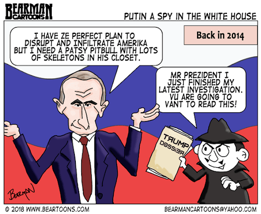 Putin a Spy in the White House (Cartoon) - Bearman Cartoons