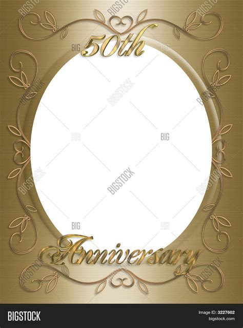 50Th Wedding Invitation Card, Frame Image & Photo   Bigstock