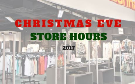 Christmas Eve 2017 Store Hours - Saving Toward A Better Life