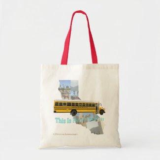 California School Bus Driver Tote Bag bag