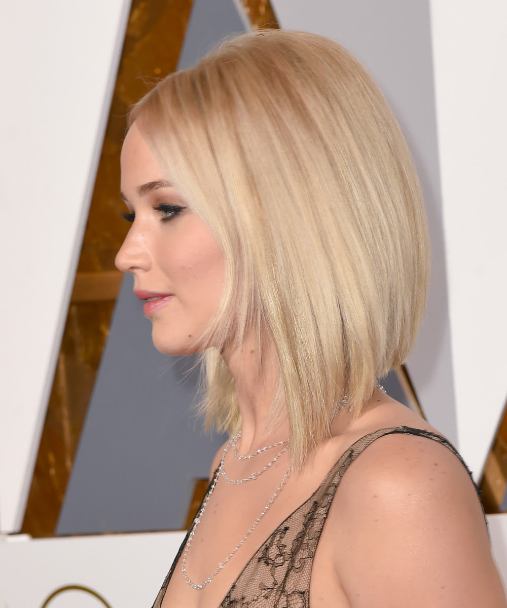 Jennifer Lawrence Long Bob Long Bob Gestuft Hairstylegalleriescom