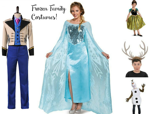 2017 Disney FROZEN Halloween Costumes for the Whole Family