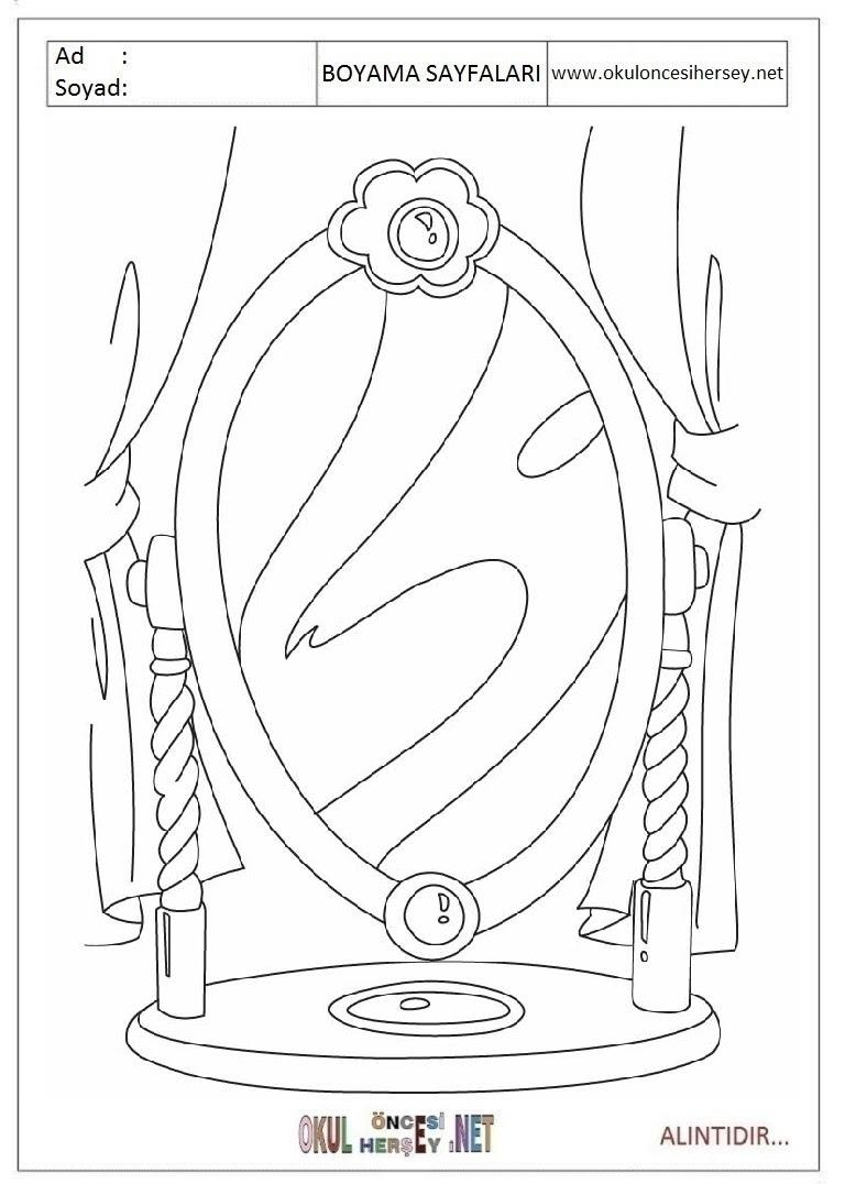 Ayna Boyama Sayfaları