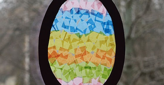 Make an Easter Egg Sun Catcher!