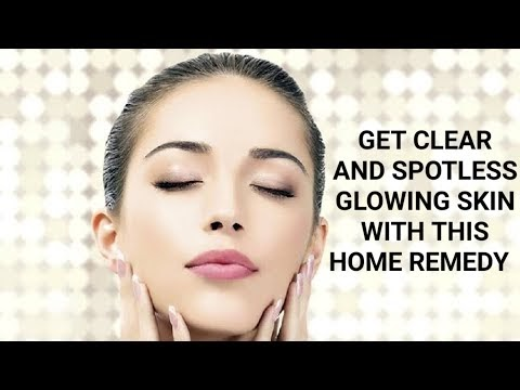 Home Remedy For Clear Smooth And Glowing Skin || With Natural Ingredients