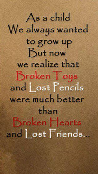 Broken Toys And Lost Pencils Quote Picture