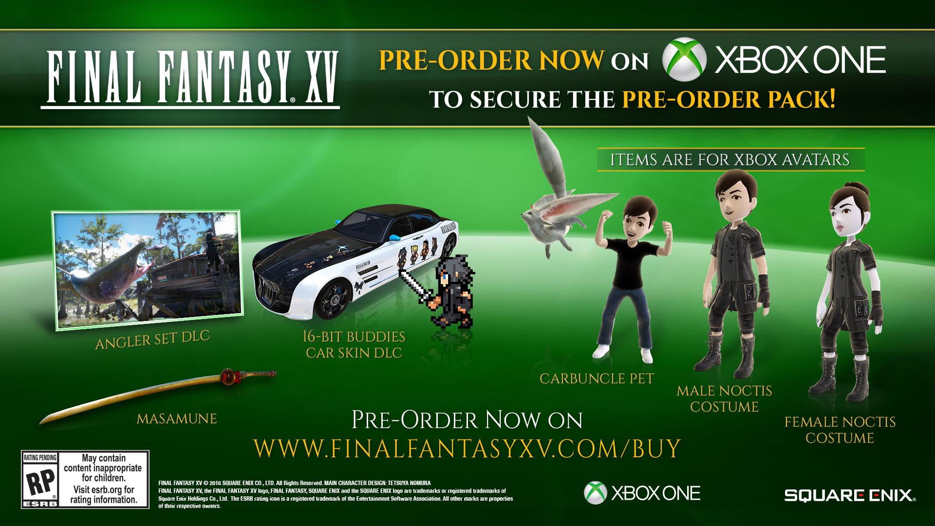 Final Fantasy Xv Digital Pre Order Bonuses Revealed Hardcore Gamer