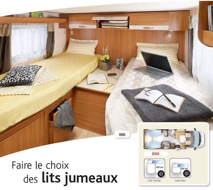 Table et chaises de terrasse camping car lits jumeaux - Camping car occasion avec lit jumeaux ...