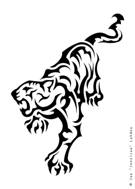 latest tribal tiger tattoos