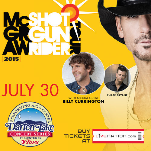 Tim McGraw Live Nation Concerts at Darien Lake PAC Giveaway