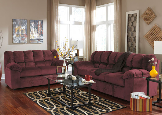 Julson Burgundy Sofa, Loveseat & Rocker Recliner