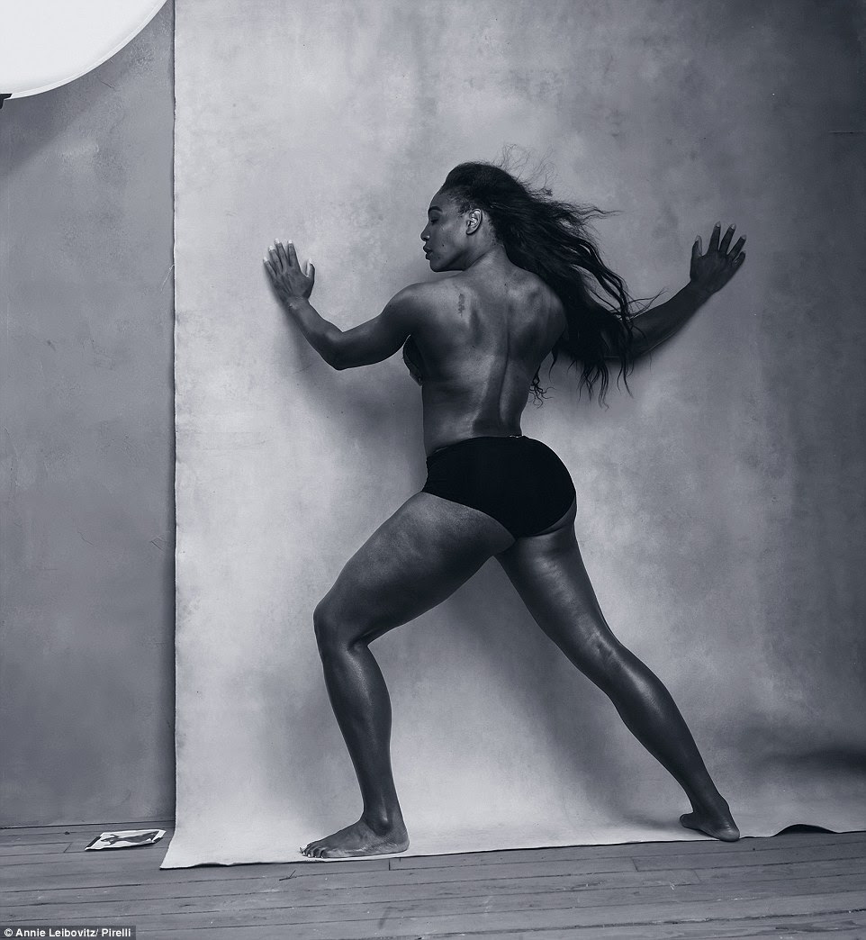 The Pirelli Calendar is taking 2016's issue in a whole new direction by featuring some of the world's most inspiring women - from artists to athletes and even bloggers. Here, Serena Williams proves her worth as a model as she poses on set