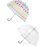 Totes Kids' Clear Bubble Umbrella (Pack of 2) - Dots/Clear one size
