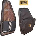 Oscar Schmidt 21 Chord A/E Ozark Autoharp with Gig Bag, SOLID Spruce Back, OS11021AE-AC445