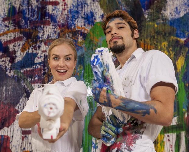 Angélia e Bruno Fagundes (Foto: Inácio Moraes/TV Globo)