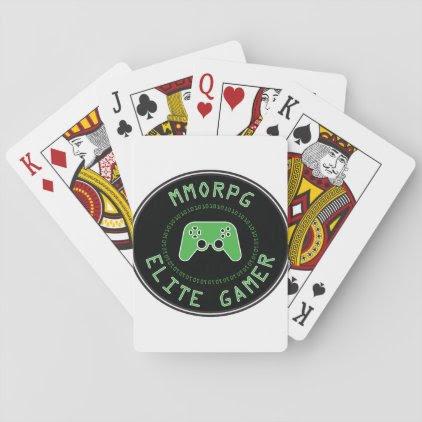 MMORPG Elite Gamer Playing Cards