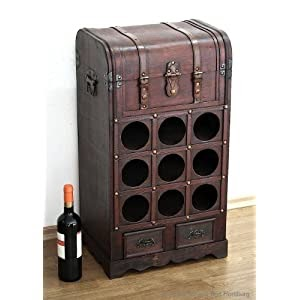 weinregal weintruhe weinregal wein weinst nder flaschenregal antik stil weinschrank wine bar. Black Bedroom Furniture Sets. Home Design Ideas