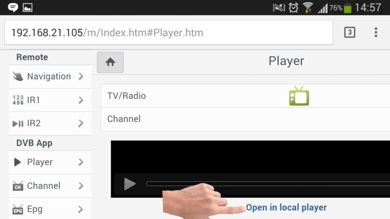 Receptor Audisat A3 plugin web Remote img 25