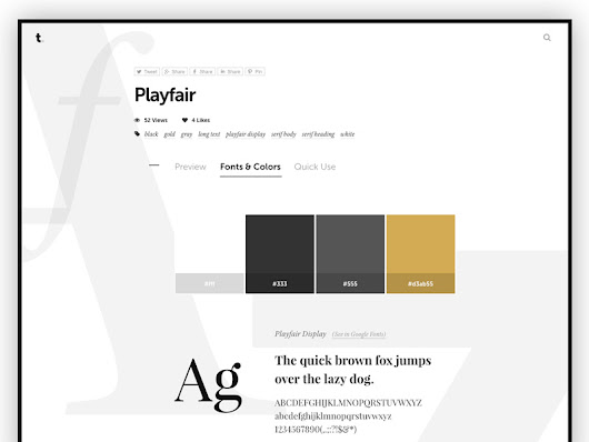 - A showcase of web typography designs with ready-to-use CSS codes.