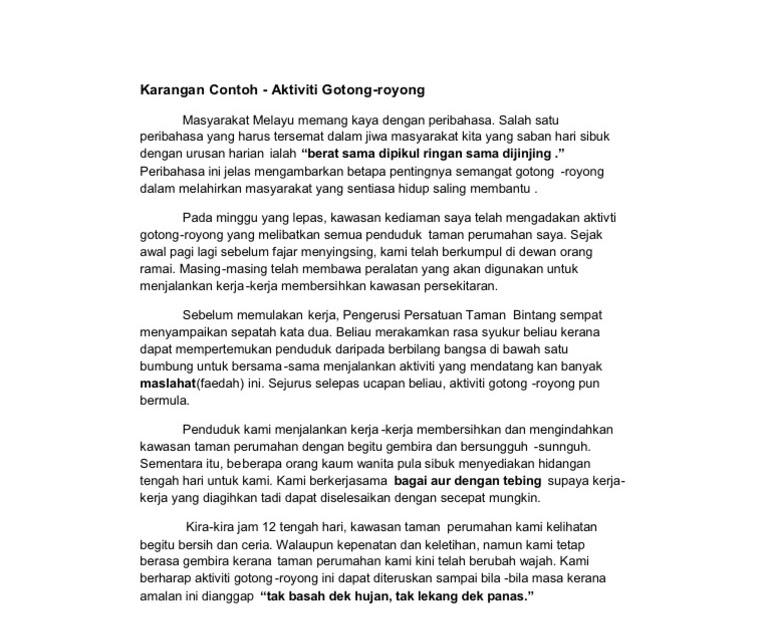 Contoh Karangan Laporan Aktiviti Gotong Royong Di Sekolah Kabar Blok